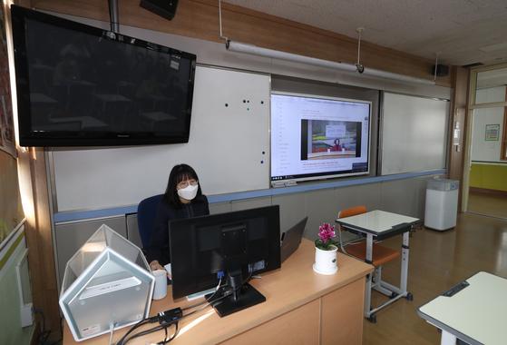온라인 개학식 모습. 연합뉴스
