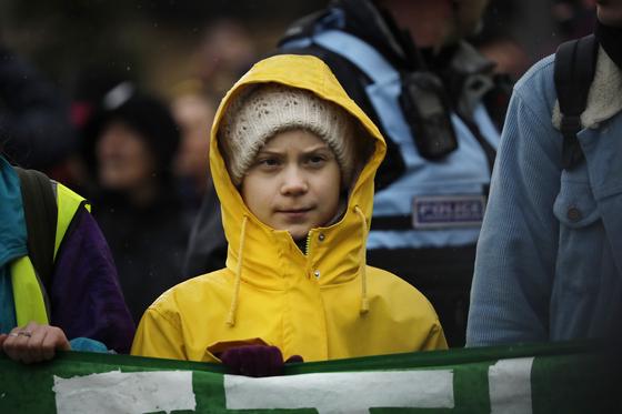 세계적으로 유명한 스웨덴 출신 환경운동가 그레타 툰베리. 10대 소녀인 그는 대표적인 'Z세대' 환경운동가다. [AP=연합뉴스]