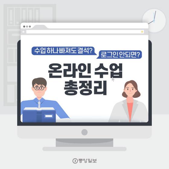 [카드뉴스]수업 하나 빠져도 결석? 로그인 안되면? 원격수업 9문9답