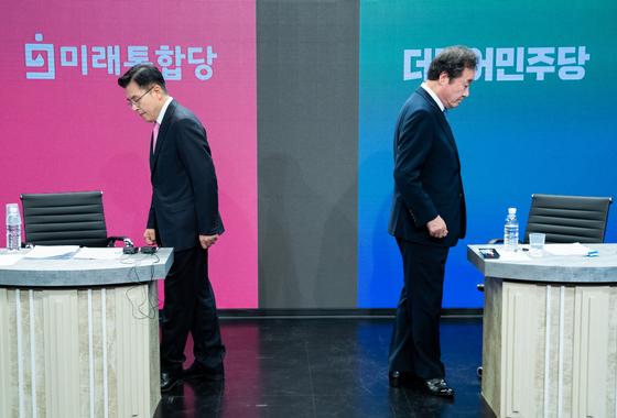 서울 종로에 출마한 이낙연 더불어민주당 후보(오른쪽)와 황교안 미래통합당 후보. 뉴스1