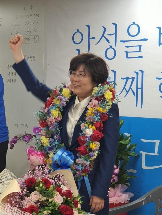 더불어민주당 김보라 경기도 안성시장 당선인. [사진 김보라 캠프]