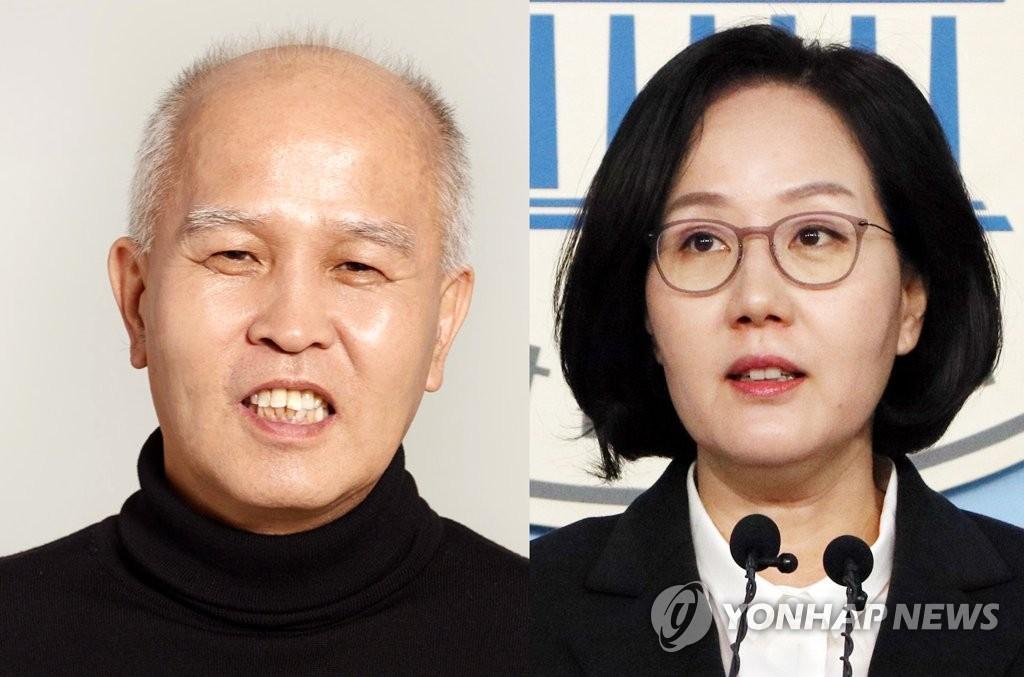 이용우 더불어민주당 후보(왼쪽)와 김현아 미래통합당 후보. 연합뉴스