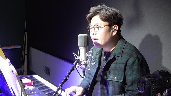 정승제씨가 수업 시작 전에 자신이 작사한 노래 '잘 될 거야'를 부르고 있다. 여운하 피디