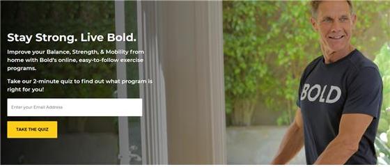 구독형 시니어 전용 온라인 개인맞춤형 운동프로그램을 제공하고 있는 볼드(Bold). [사진 볼드 홈페이지]