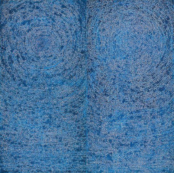 김환기 '우주(Universe 05-IV-71 #200)', 1971, Oil on cotton, 254x254cm. [사진 갤러리현대]