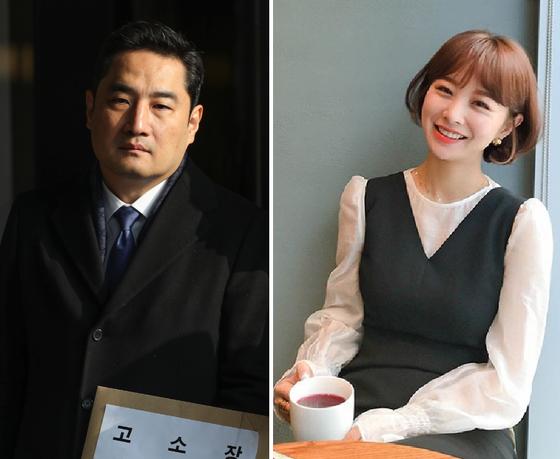강용석 법무법인 넥스트로 변호사(왼쪽). 임지현 전 부건에프엔씨 상무(오른쪽). 뉴스1ㆍ인스타그램