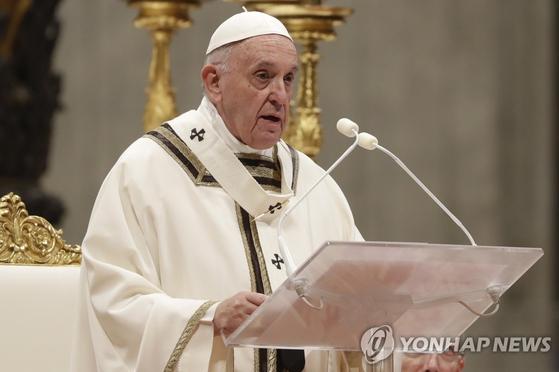 프란치스코 교황. 로마 AP=연합뉴스