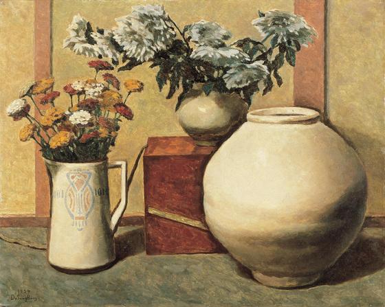 도상봉, 정물, Oil on canvas, 72.7 x 90.9 cm.[사진 갤러리현대]