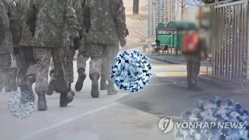 군인 확진자 발생으로 장병 휴가 면회 통제(CG). 연합뉴스TV