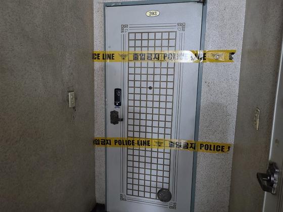 장롱 속에서 시신 2구가 발견된 상도동의 한 주택. 김지아 기자