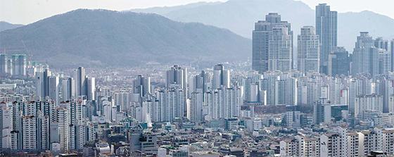 서울 강남 일대 아파트 단지. [중앙포토]