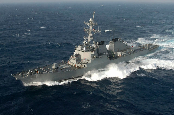 미국 해군 이지스 미사일 구축함 배리. 사진 미국 해군 홈페이지 캡처