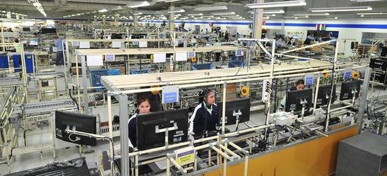 삼성전자의 멕시코 티후아나 TV 공장. 사진 삼성전자