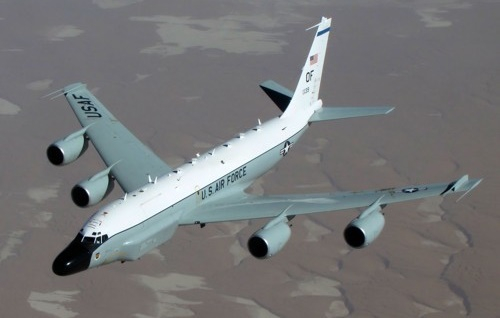 미국 공군 정찰기 리벳 조인트(RC-135W). 미 공군 홈페이지 캡처