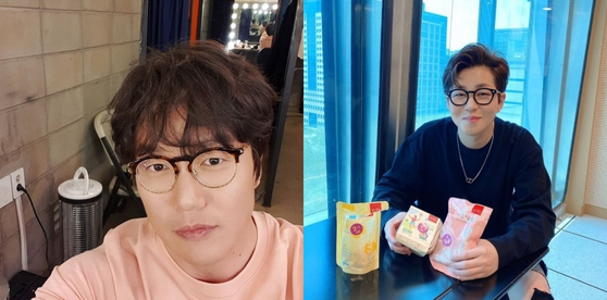 '금주'로 다이어트에 성공한 가수 성시경(왼쪽)과 딘딘. 사진 각 인스타그램