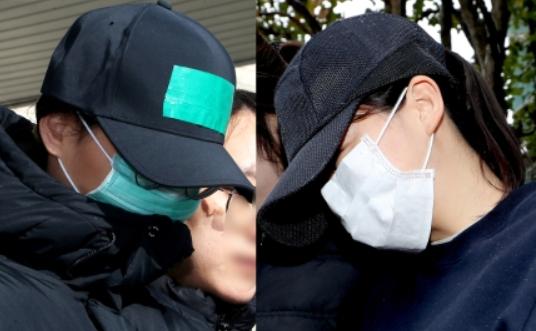 아동학대치사혐의를 받은 C씨(왼쪽)와 숨진 아이의 친모 A씨. 뉴스1