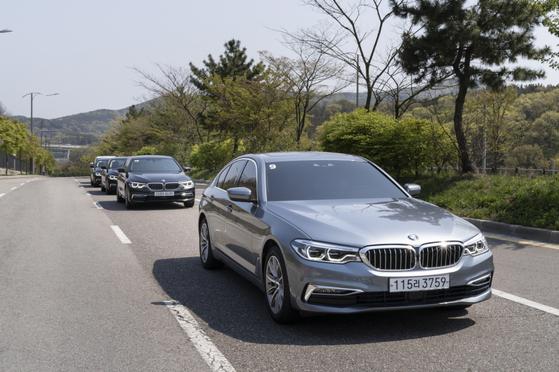 BMW 5시리즈의 플러그인 하이브리드 모델 530e. 사진 BMW코리아
