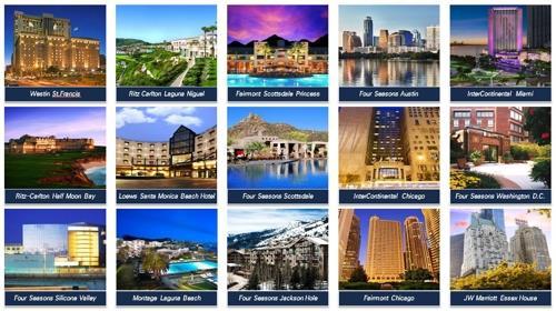 미래에셋이 중국 안방보험으로부터 매매하기로 계약한 미국 내 15개 호텔. [사진 안방보험]