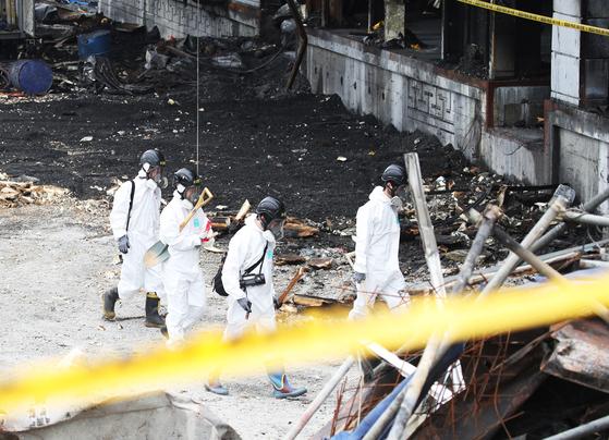경찰 물류창고 시공계획서 확보 이천 화재 수사 속도내나 중앙일보