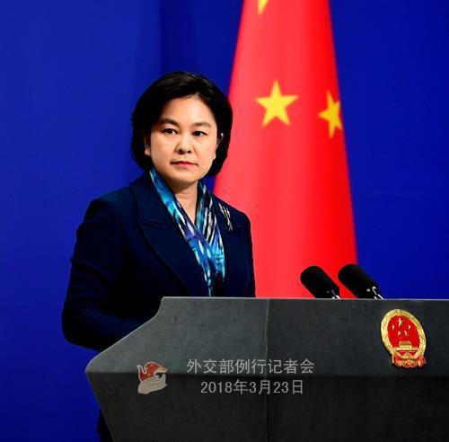 화춘잉 중국 외교부 대변인. [연합뉴스]