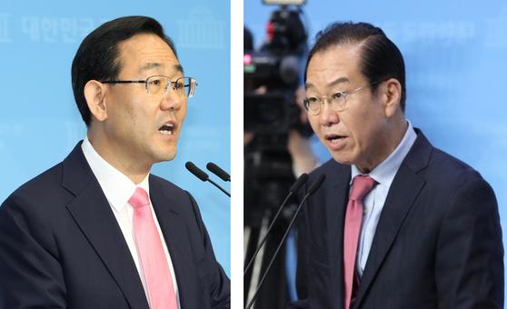 미래통합당 주호영(왼쪽) 당선인과 권영세(오른쪽) 당선인. [연합뉴스, 뉴스1]