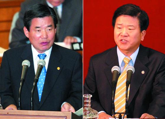 2003년 6월 당시 초선이던 박병석 새천년민주당 의원이 김진표 경제부총리를 상대로 경제분야 대정부질의를 벌이고 있다. 김형수ㆍ오종택 기자