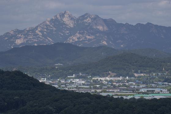 경기도 고양시 행주산성에서 바라본 3기 신도시 창릉 지구 일대의 모습. [연합뉴스]