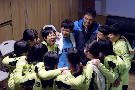 영화 '슈팅걸스' 한 장면. [사진 전북교육청]