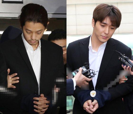 가수 정준영(왼쪽)과 최종훈. 뉴스1