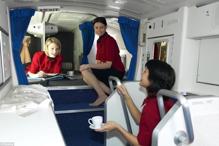 B777에 설치된 승무원 휴식공간인 벙크. [출처 보잉 홈페이지]