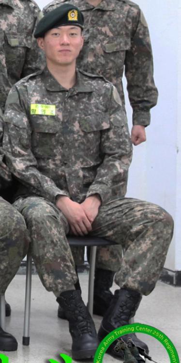 육군훈련소에서 기초군사훈련을 받고 있는 황의조의 모습. [사진 육군훈련소 홈페이지]