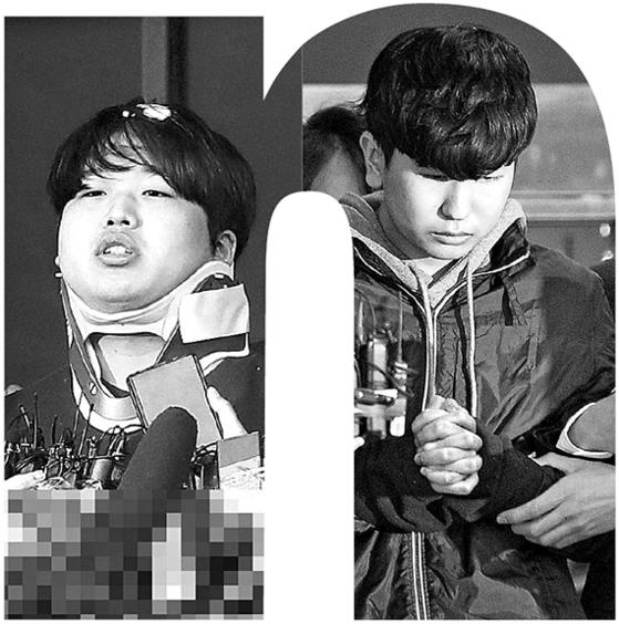 박사방 운영자 조주빈(24·왼쪽)과 공범 강훈(18)은 신상이 공개됐다. [중앙포토]