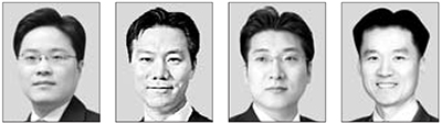 양해근, 조현수, 김지훈, 김동원(왼쪽부터)