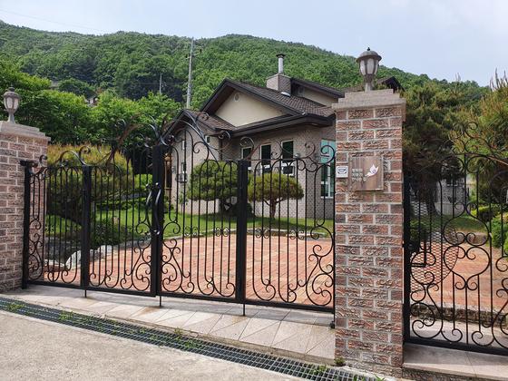 18일 정의연이 운영했던 경기도 안성의 위안부 피해자 쉼터 '평화와 치유가 만나는 집'. 이가람 기자