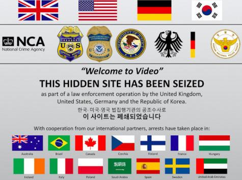 2019년 10월 미국 법무부가 다크웹 최대 아동·청소년 성착취 영상 사이트 '웰컴투비디오' 수사 결과를 발표하면서 해당 사이트에 폐쇄 공지를 내걸었다. 사진 경찰청