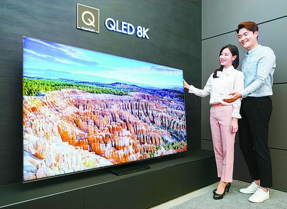 삼성 2020년형 QLED 8K TV 신제품. 뉴스1
