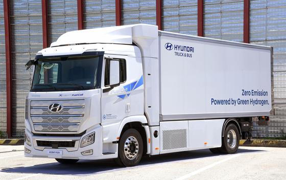 현대차가 개발 중인 '엑시언트' 수소전기 트럭. 사진 현대차