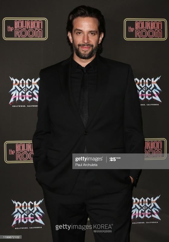 "HOLLYWOOD, CALIFORNIA - JANUARY 15: Actor Nick Cordero attends the opening night of ""Rock Of Ages"" at The Bourbon Room on January 15, 2020 in Hollywood, California. (Photo by Paul Archuleta/Getty Images"
