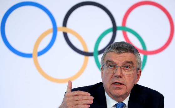 토마스 바흐 국제올림픽위원회(IOC) 위원장. 로이터=연합뉴스