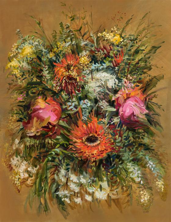 허보리, 'Flower Portrait', 145x112cm, oil on canvas.[사진 헬리오아트]