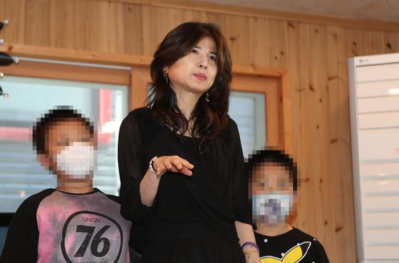 위안부 피해자 고 곽예남씨의 수양딸 이민주 목사. 연합뉴스
