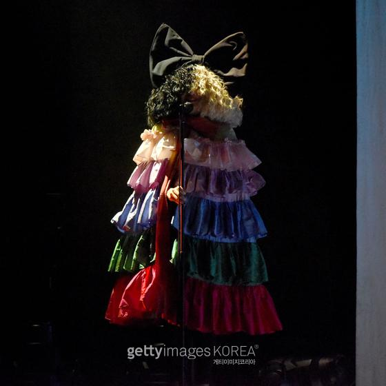 """LOS ANGELES, CALIFORNIA - SEPTEMBER 21: Sia performs onstage Los Angeles LGBT Center Celebrates 50th Anniversary With """"Hearts Of Gold"""" Concert & Multimedia Extravaganza at The Greek Theatre on September 21, 2019 in Los Angeles, California. (Photo by Presley Ann/Getty Images for the Los Angeles LGBT Center)"""