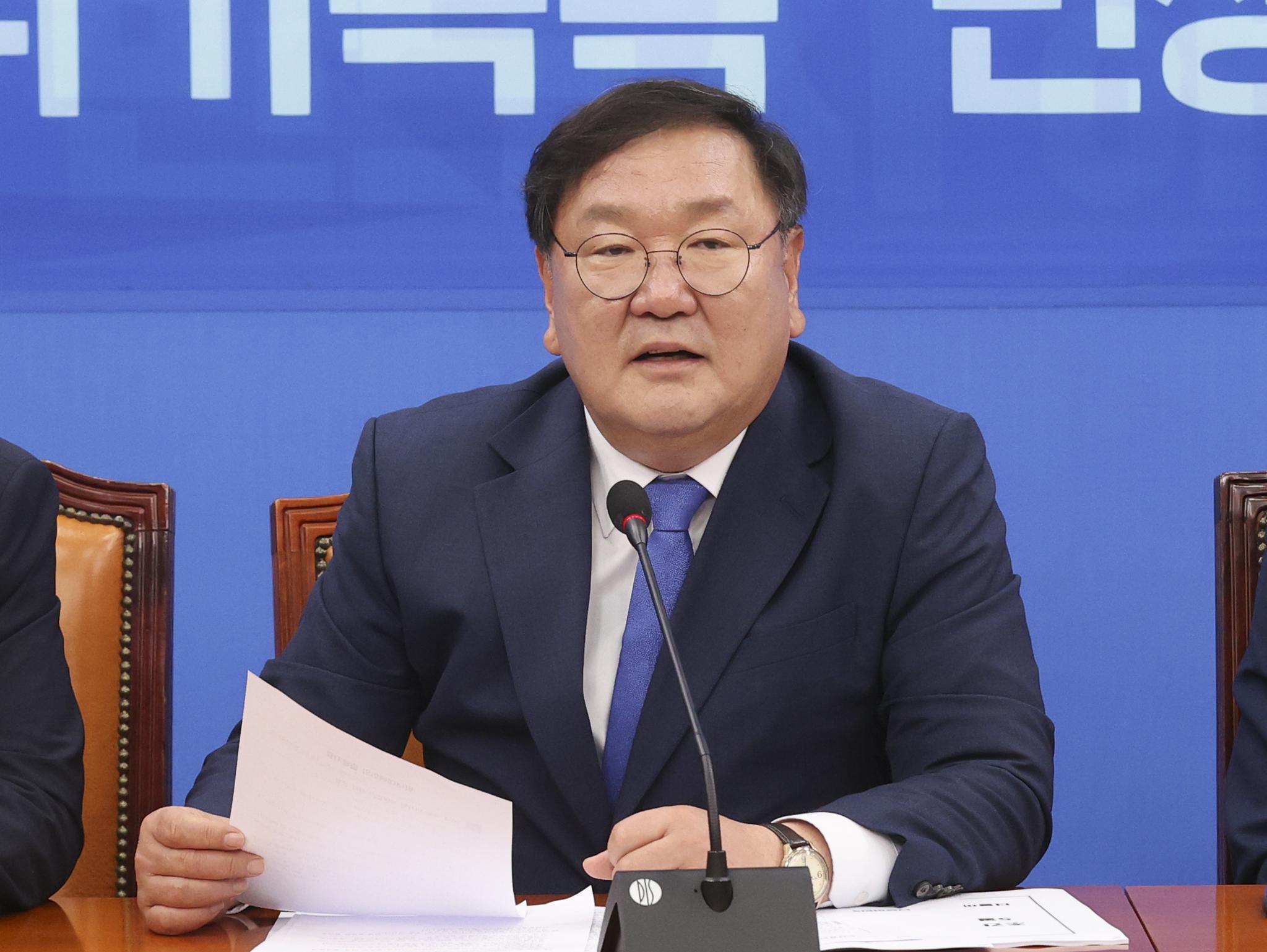 김태년 더불어민주당 원내대표. 임현동 기자