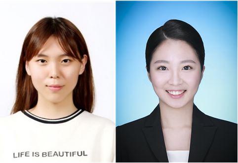 (사진 좌측부터) 숙명여대 ICT융합공학부 응용물리전공 김수연 학생과 정다정 학생