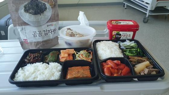 이씨가 병원에서 먹는 식단. [사진 이정환씨]