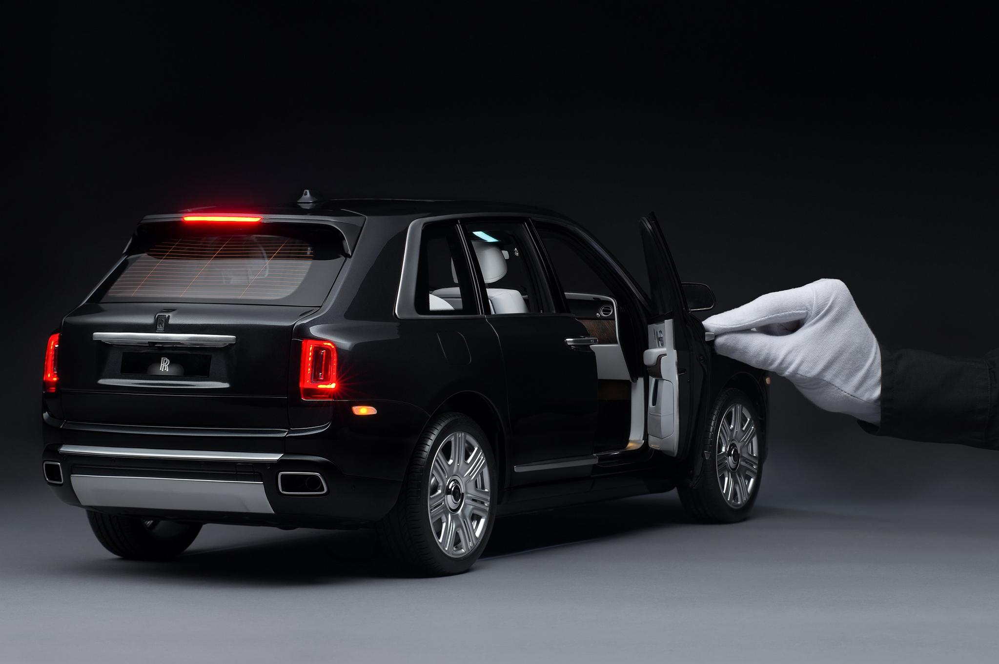초고가 럭셔리 자동차의 대명사인 롤스로이스가 2000만원대 모형 자동차를 내놨다. 실차의 모든 요소를 빠짐없이 정밀하게 재현한 게 특징이다. 사진 롤스로이스 모터카