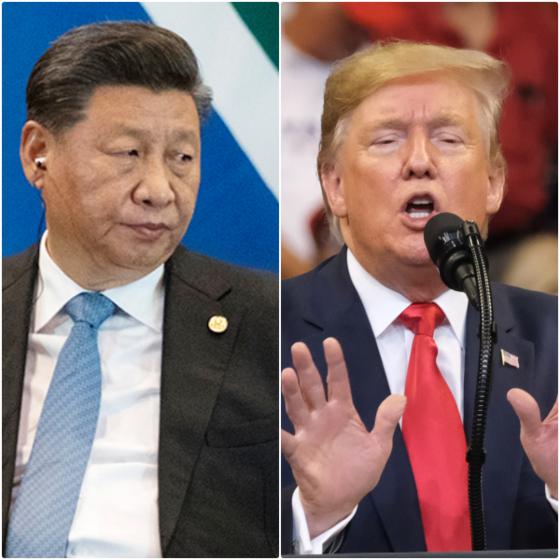 """도널드 트럼프 미 대통령은 '홍콩인권법안'에 서명하며 """"시진핑 중국 국가주석과 중국, 홍콩에 대한 존경의 마음을 담았다""""고 말했으나 중국의 격렬한 반발을 사고 있다. [UPI=연합]"""
