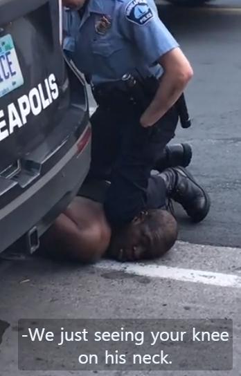 무릎으로 목 찍어 눌러...美 경찰 가혹행위에 흑인 사망