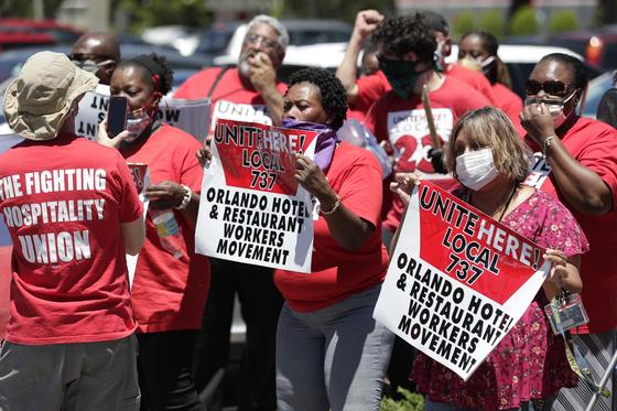 미국,10주 새 실직자 4000만명 넘어섰다…지난주 212만명