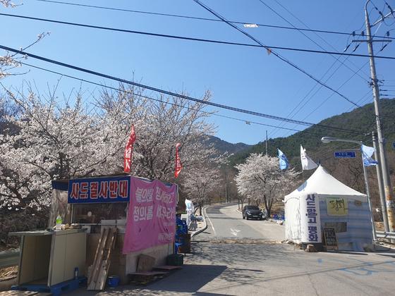 지난해 4월 경북 성주군 소성리 사드 기지 길목. 중앙포토